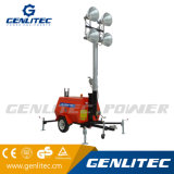 Generador de Motor Kubota de construcción móvil Torre de Luz