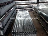 Metallo rivestito dello zinco che copre le lamiere galvanizzate ondulate del tetto con la certificazione dello SGS