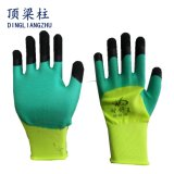Полиэфир 13 датчиков, перчатки 3/4 безопасностей покрытия нитрила с Ce