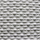 Riga blu tessuti del piccolo reticolo del materasso