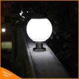 Het ronde Openlucht LEIDENE van de Lamp van de Pijler van de Bal Zonne PostLicht van de Tuin