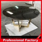 A tabela final acento em mármore preto