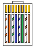 4 rame di memorie UTP CAT6 di colore 8 o cavo di lan del CCA