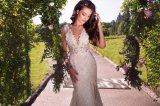 人魚の取り外し可能な球の花嫁衣装のウェディングドレスに玉を付けるレース