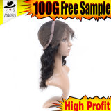 Tampões cheios brasileiros da peruca do cabelo humano da compra das perucas do laço para fazer perucas