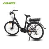 Beach Cruiser Lady Style bicicleta eléctrica com bateria de bastidor traseiro