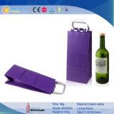 2018 de nieuwe Zak van de Houder van de Wijn van het Leer van het Pakket van de Wijn van Stijlen Purpere (6835R2)