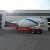 Del árbol del mezclador concreto de alimentador del acoplado 12m3 del tambor acoplado gemelo semi