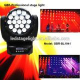 Gbr 19*15Wのズームレンズの段階LEDのビーム洗浄軽い移動ヘッドズームレンズ