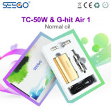 Nieuwste tc-50W Mod. van het Voltage van de Doos Seego Veranderlijk & Geraakte Lucht 1 Vloeibare Verstuiver van euro