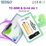 Seego 가장 새로운 Tc 50W 상자 변하기 쉬운 전압 Mod는 & 공기를 1개의 E 액체 기화기 G 명중했다