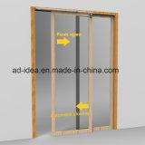 Дверь безопасности популярными скрынная конструкциями алюминиевая - более близко