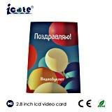Nouveau design de mode de 2.8 pouces Brochure Vidéo LCD, mini produit promotionnel LCD