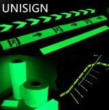 Photoluminescent 필름, 안전 표시, Guilding 선을%s 어두운 테이프에 있는 놀