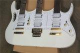 Guitare électrique blanche de Hanhai avec 3 collets (12+6+6 chaînes de caractères)