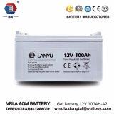 Batteria acida al piombo terminale anteriore eccellente 12V 100ah/Lanyu100A003 del AGM