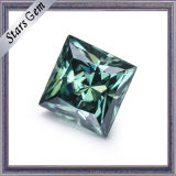 Jewelry를 위한 녹색 Color 5*5mm Princess Cut Moissanite