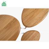 簡単な居間の家具の現代木製のコーヒーテーブル楕円形の上の木表