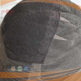 Peluca brasileña del cordón del negro del pelo de la Virgen de Handtied (PPG-l-0386)