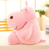 Jouet animal de substance de peluche d'hippopotame mol superbe