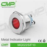 luz de señal del metal LED de 22m m
