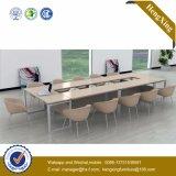 黒い鋼鉄足の会議の席の机の木のオフィス用家具(UL-NM011)