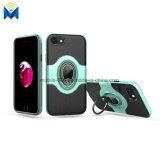 Противоударная задняя сторона обложки случая телефона с кольцом и магнитным держателем автомобиля на iPhone 7 8