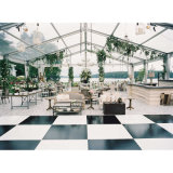 Pistes de danse noires et blanches de Dance Floor de mariage extérieur d'événement portatives