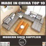 Combinação de Tamanho Grande Sala de Estar sofá em U com mesa de canto