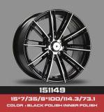 Qualidade superior de liga de novo Design personalizado para o carro roda de liga de alumínio