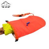Schleppseil-Gleitbetriebeswim-Boje mit doppeltem Heizschlauch und einer Pfeife-Faltenbildung für geöffnetes Wasser-Schwimmen