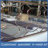 Moderner Entwurfs-Edelstahl, der dekorativen Partition-Bildschirm Roon Teiler faltet