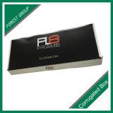 Caixa de embalagem de papel pequena preta lustrosa com logotipo feito sob encomenda