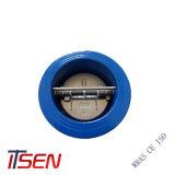 DIN/ANSI 던지기 또는 연성이 있는 철 이중 격판덮개 웨이퍼 유형 역행 방지판