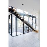 Escalier droit en bois de flottement/pêche à la traîne en verre