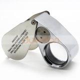 40X 25mm todo de metal la Lupa joyero joyería Lentes UV LED LED Lupa Lupa lupa de la detección de moneda
