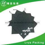 Recyclage organique numérique personnalisé imprimé en noir petit sac avec lacet de serrage en toile de coton