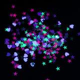Gemengde Kleur van de Lovertjes van de Spijker van de Vorm van het Hart van de ster schittert de Fluorescente 1g de Decoratie van de Spijker van de Manicure van Flakies Paillette