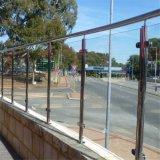 Balcón de acero inoxidable barandilla de cristal de Diseño, Diseños de baranda de la terraza
