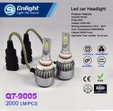 Cnlight Q7-9005 9012 H4 H7 H13 vende al por mayor la iluminación auto de gran alcance barata del automóvil de la linterna del coche de la MAZORCA Ce/RoHS/Emark 4300K/6000K LED