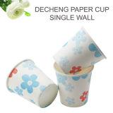 La flor de China imprimió la taza de té de papel de 6 onzas