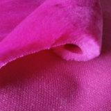 Taglio del poliestere e pelliccia falsa artificiale del velluto del ciclo