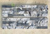 Populaires de grain du bois en marbre gris pierre de la culture pour les longs revêtement mural