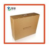 Cartón de papel Kraft Maleta de transporte de cajas de regalo con asa