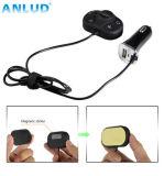 Trasmettitore senza fili nero del giocatore di MP3 del kit dell'automobile FM