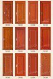 Portello di legno interno economico PVC/del MDF per l'ufficio (YH-5006-1)