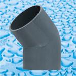 Encaixes solventes da pressão do PVC da junção