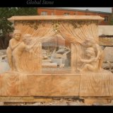 Sculpté à la main belle cheminée avec Angel