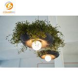 أنيق زهرة شكل كاكيّة مدلّاة [لد] يظلّ إنارة [بولستر فيبر] [أكوستيك بنل] يعيش غرفة أثاث لازم محبوب مصباح غطاء