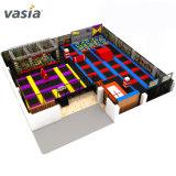 La Chine et de haute qualité à bas prix Vasia indoor-outdoor Trampoline gymnastique Parc avec guerrier ninja